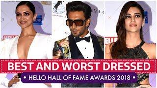 Deepika Padukone, Kriti Sanon, Mira Rajput: Hello Hall of Fame Awards 2018   Pinkvilla   Bollywood
