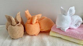 おしぼりで作るウサギ  / Bunny  made with a towel thumbnail