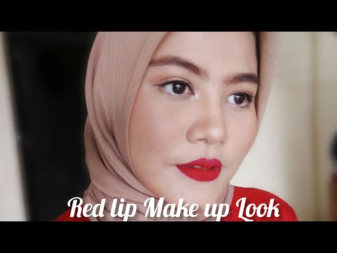 maku-up-kondangan-|-red-lip-make-up-look-|-gak-medok