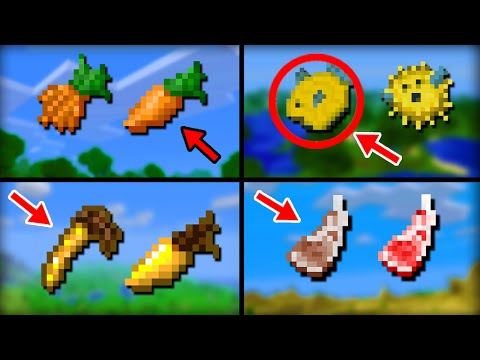 ✔ Minecraft: 10 Food Textures That Changed