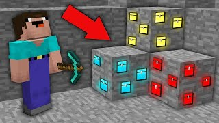 Minecraft NOOB vs PRO : NOOB MINED RAREST CHEST ORE IN MINE! Challenge 100% trolling