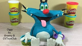 How to make OGGY (From Oggy and the cockcroaches) with Play-Doh