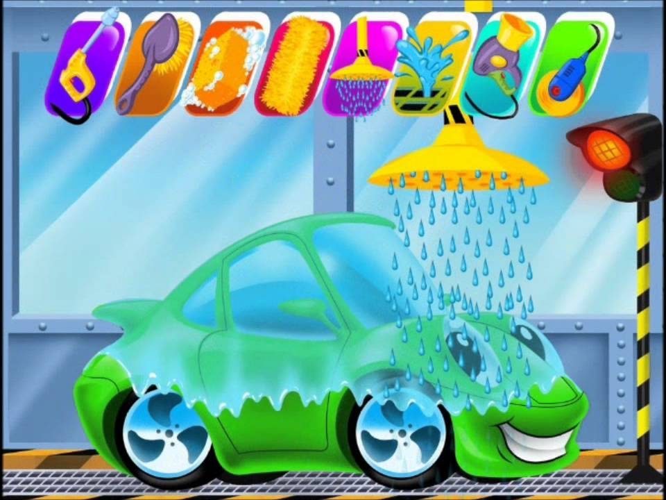 car wash and spa video for kids clean up games kids games youtube