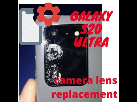 How to replace galaxy s20ultra camera glass lens replacement