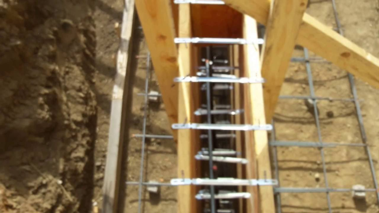 Veterans Concrete Form Work Walk Thru Pre Pour Retaining Wall