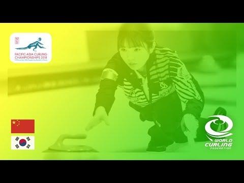 China v Korea - Women - Round Robin - Pacific-Asia Curling Championships 2018