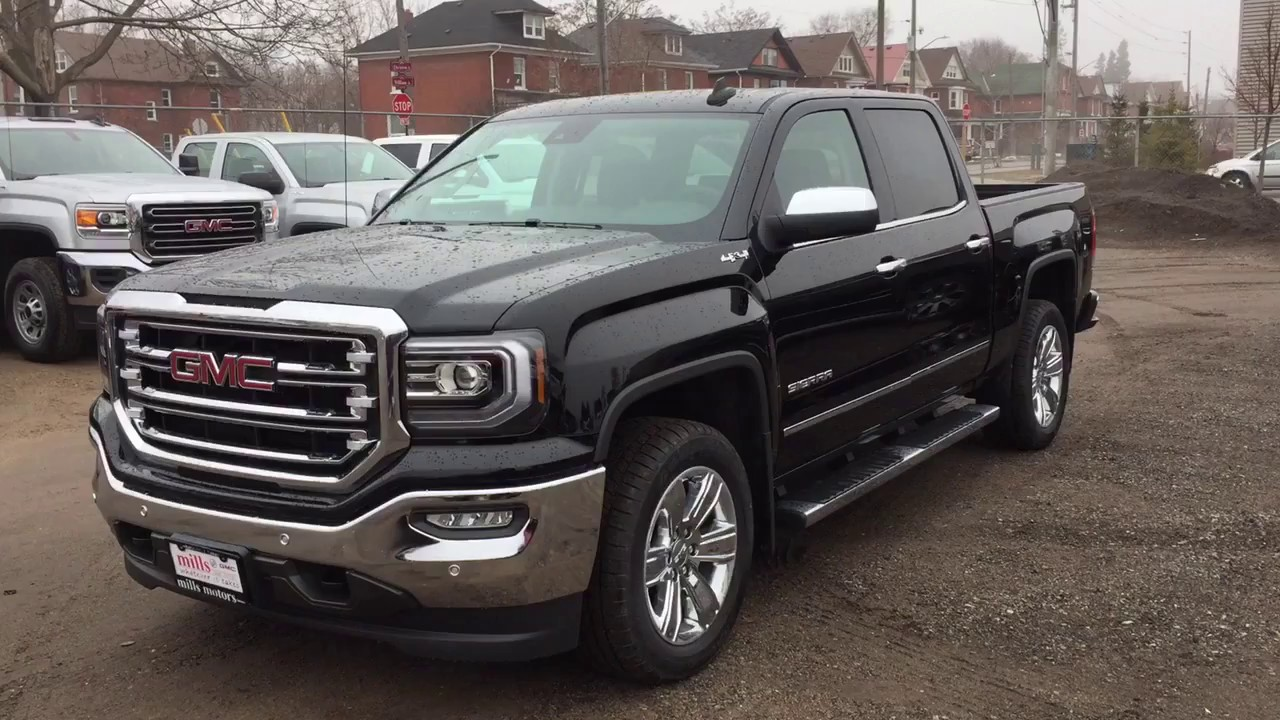 2017 Gmc Sierra 1500 Slt 4wd Crew Cab Sunroof Running Boards Black Oshawa On Stock 170680