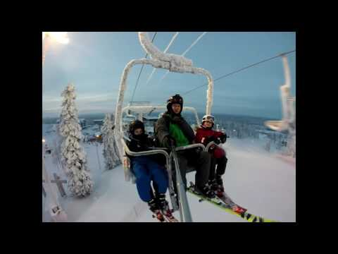 Skiing at Ruka in December 2016 (Finland/Lapland)