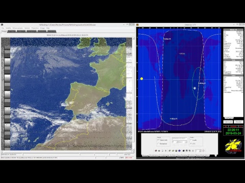 NOAA Weather satellite images  recorded at GREAA ground station, Bellinzona, Switzerland.