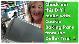 Check out this DIY I make with Cookie Baking Pans from the Dollar Tree 🌳