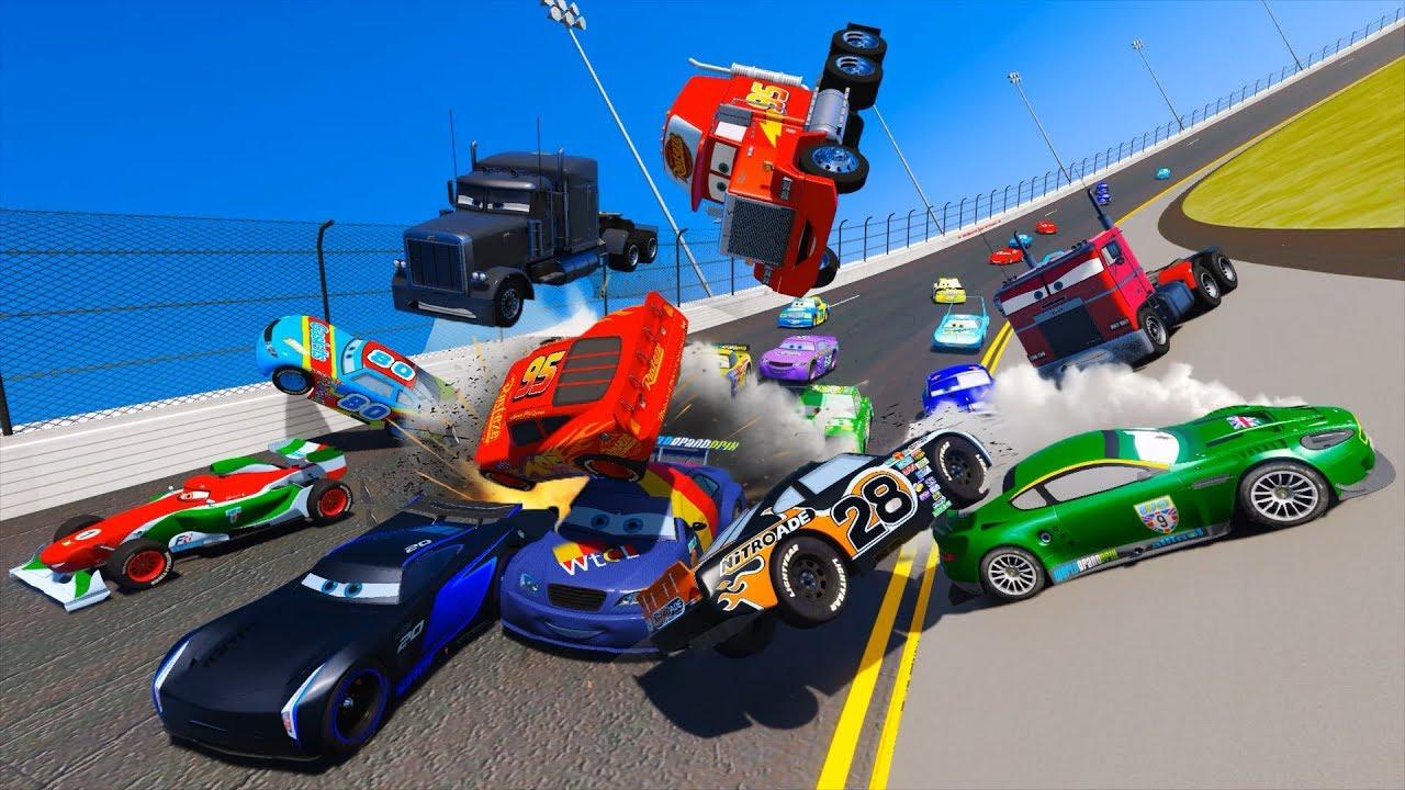 Racing Crash Cars 3 Daytona McQueen Jackson Storm Chick Hicks The ...