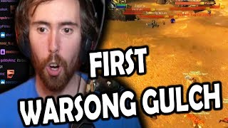Asmongold's First Warsong Gulch Match In Classic WoW Beta