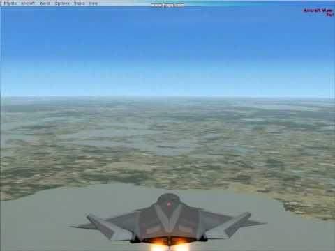 FSX - Stealth F/A-37 Talon Flying