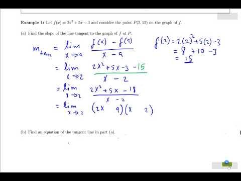 somali Calculus 1 darsiga 10  Introducing the Derivative part1
