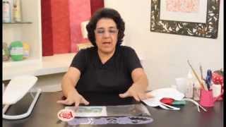 Alciana Rossi ensina Trabalhar um babador com as réguas da Isamara Custódio