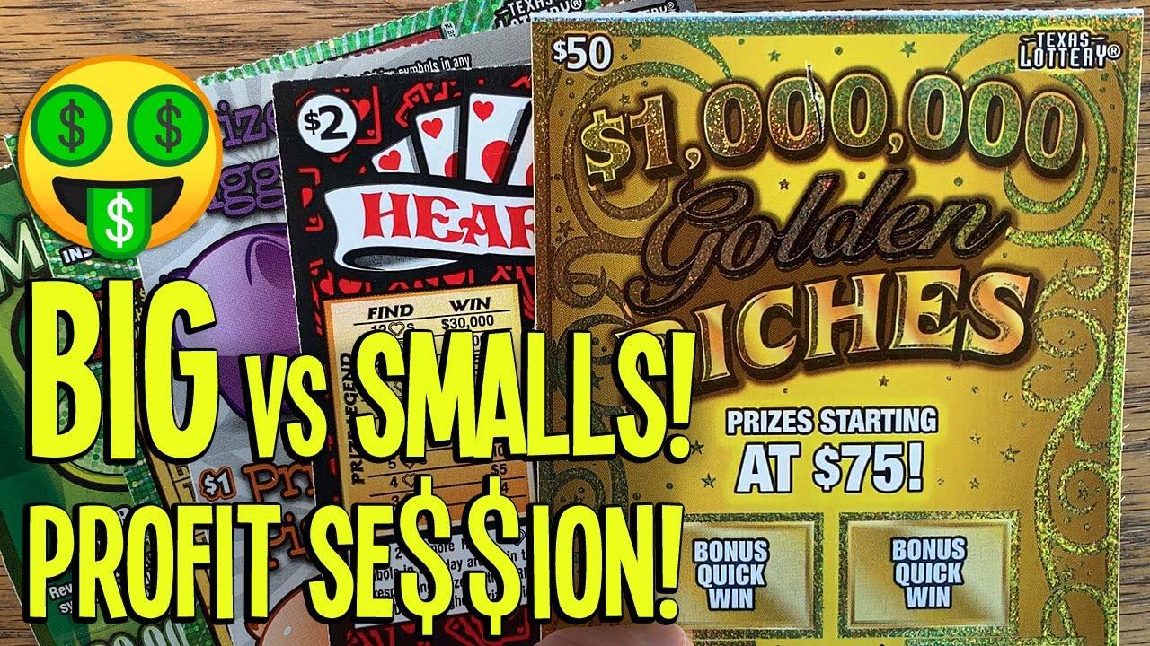 😱 BIG vs Smalls PROFIT SESSION! 🤑 $100/TICKETS 💰 $50 Ticket + HEARTS! 💵 TX LOTTERY Scratch Offs