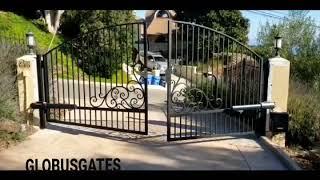 Liftmaster LA500 dual package, Custom steel driveway Gates by Globus Gates