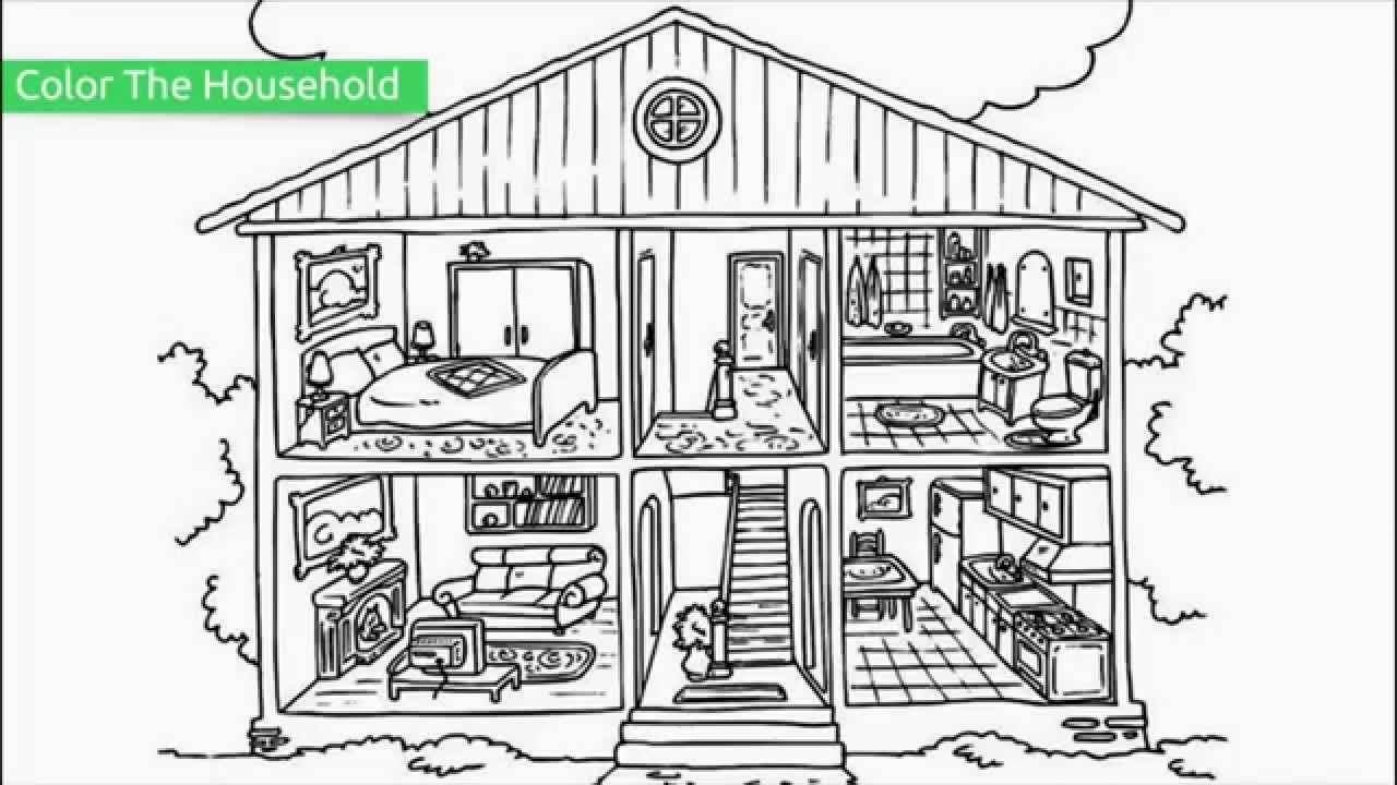 Top 20 Free Printable House Coloring Pages Youtube Rh Com Gingerbread Sheets Haunted