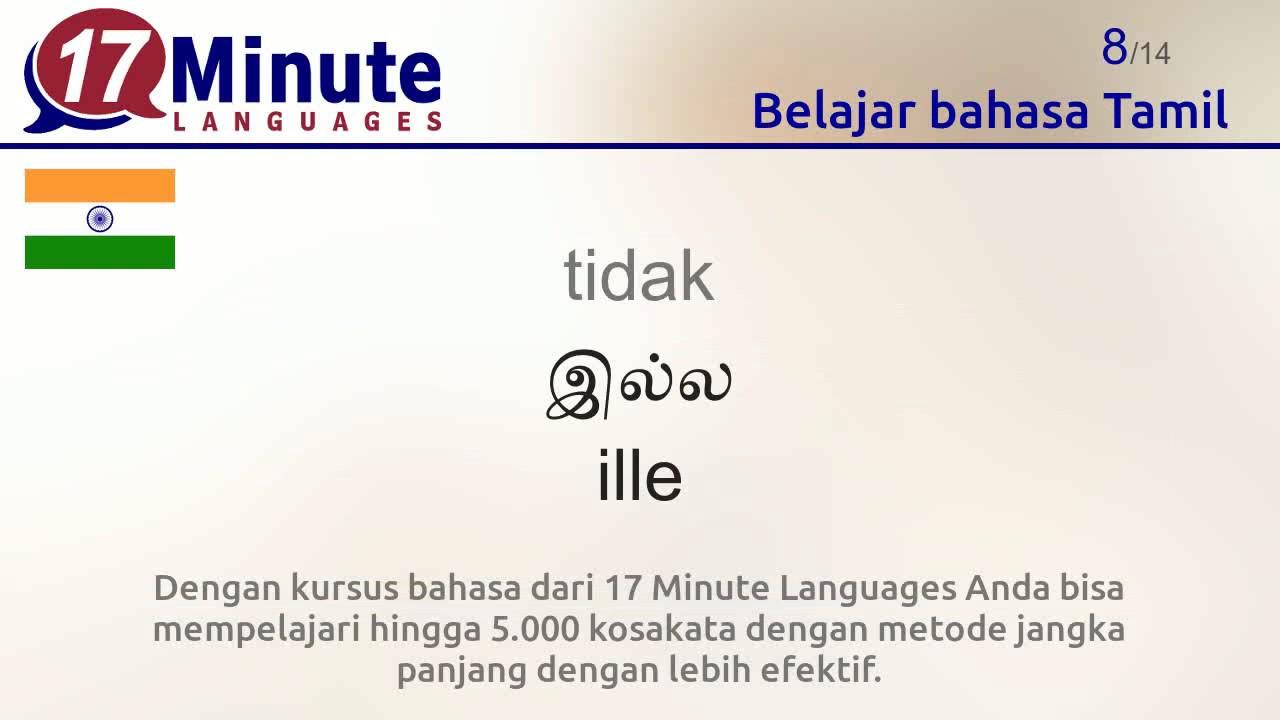 Video Belajar Bahasa Tamil Gratis Youtube