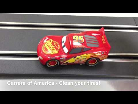 Carrera slot cars – How to clean tires, set the brushes and stay on the track!
