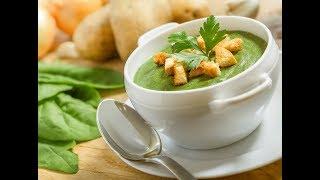 Суп со шпинатом и рукколой