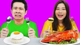 Makanan Rp10,000 vs Makanan Rp1,000,000