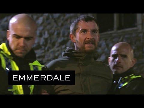 Emmerdale - Pete Throws A Brick Through Ross