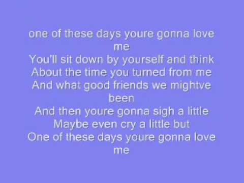 one of these days - tim mcgraw **LYRICS**