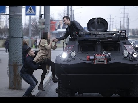 Пикап на танке / Pickup on tank Prank