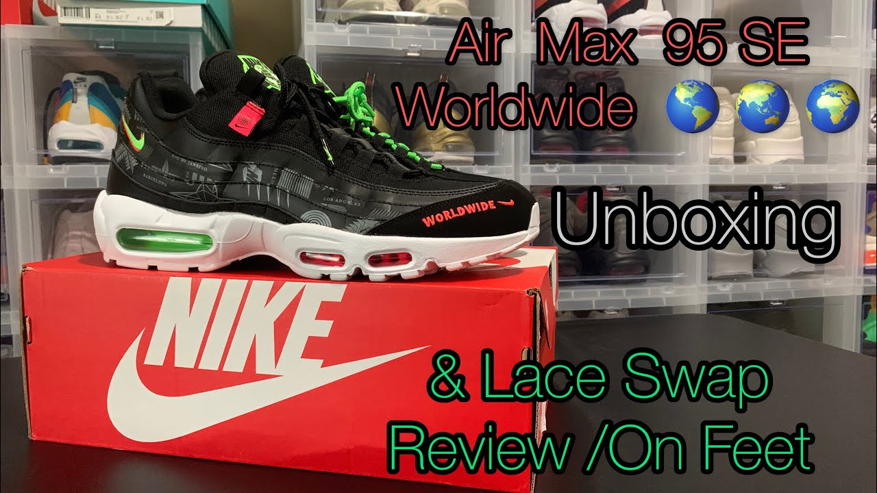 New Air Max 95 SE Worldwide Unboxing & Lace Swap Review