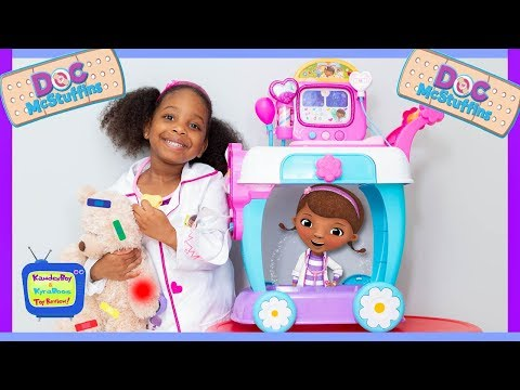 Doc McStuffins Boo Boo Story | Toy Hospital Care Cart with Kyraboo