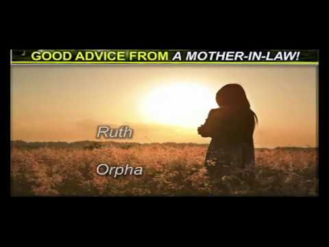 GOOD ADVICE FROM A MOTHER IN LAW