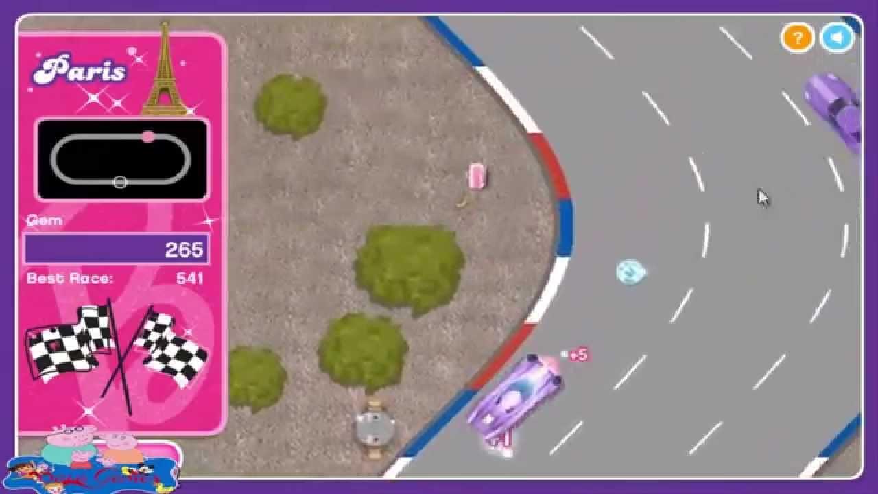 Barbie Race Car Cutie Game