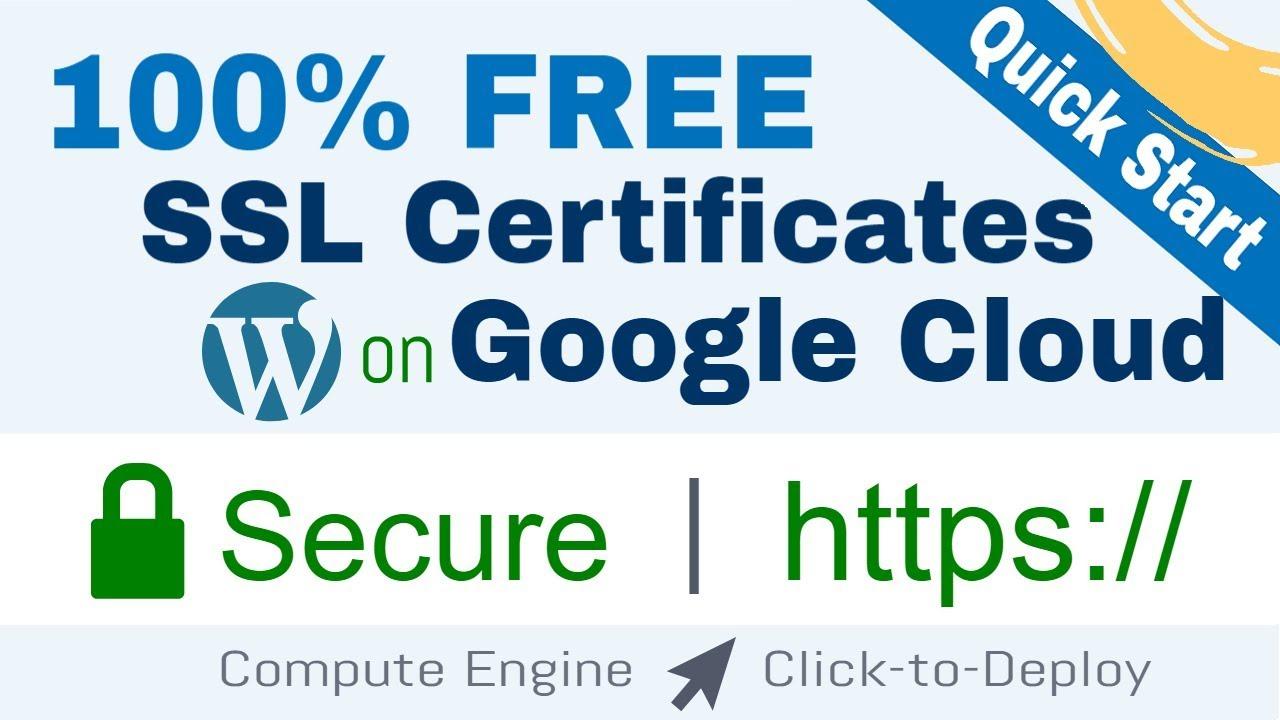 Setup Free SSL for WordPress on Google Cloud (Click-to