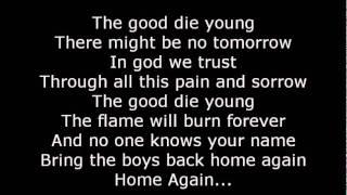 Scorpions-The good Die Young Lyrics