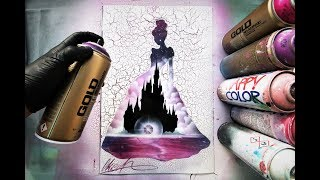 Disney Cinderella - SPRAY PAINT ART - by Skech
