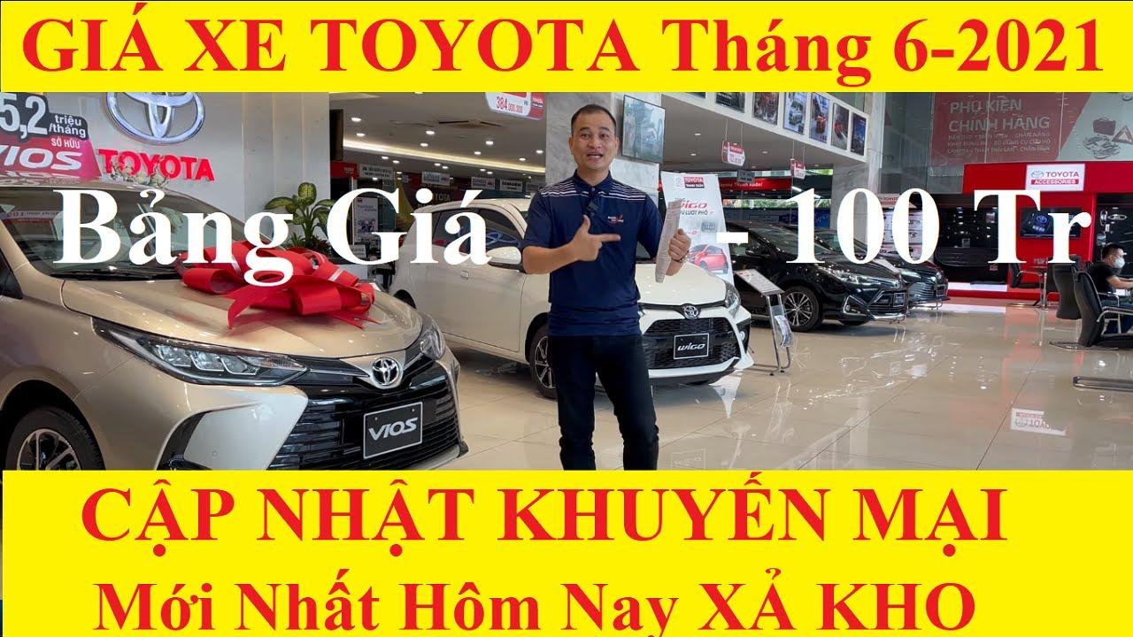 ✅Bảng Giá Xe Toyota Cập Nhật 15/6/2021 Khuyến Mại Mới Nhất Hôm Nay Lăn Bánh Xả Kho 100 Triệu Trả Góp