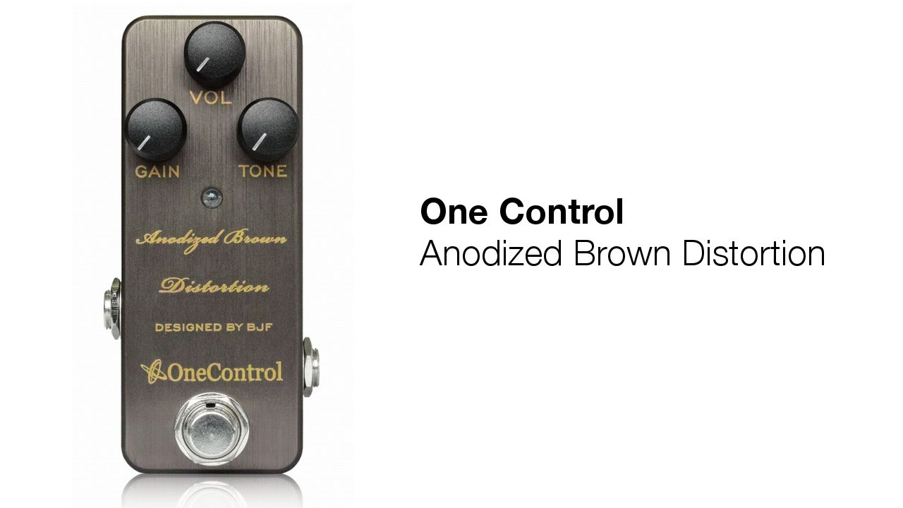 One Control Anodized Brown Distortion Bjf Design Demo Review Circuits Gt Boss Dd 2 Digital Delay Guitar Pedal Schematic Diagram