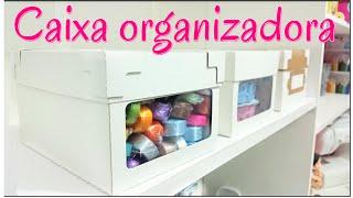 DIY / Caixa organizadora faça a sua de forma simples e fácil