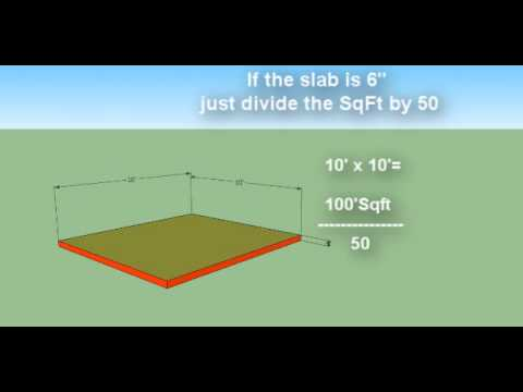 How To Estimate Concrete