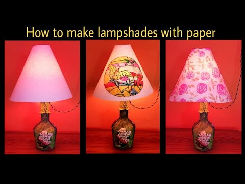 How to make lampshade with simple paper in very low cost