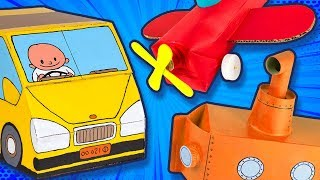 How to Make Cardboard Cars, Airplanes & Boats | DIY Craft Ideas for Kids