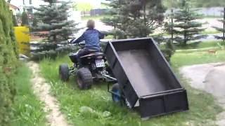 Praca w ogrodzie quad 125