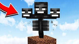 DO NOT SURVIVE WITH THE WITHER BOSS IN MINECRAFT!