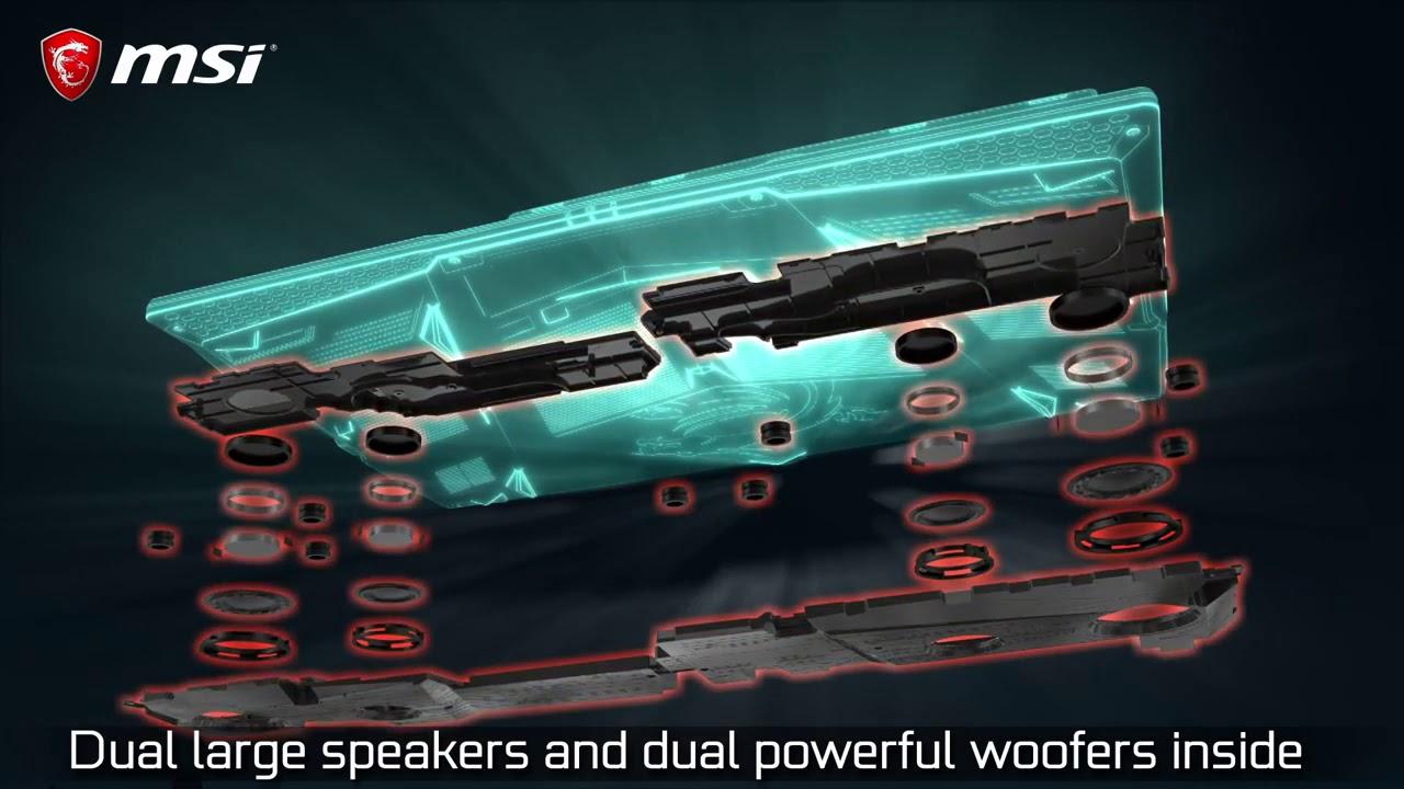 Des haut-parleurs format XL pour un son impressionnant sur les GE63 et GE73 Raider