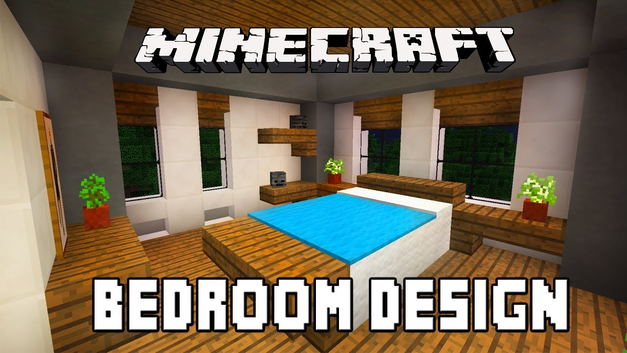 Minecraft Furniture Bedrooms minecraft tutorial: how to build a modern house ep.10 (kids