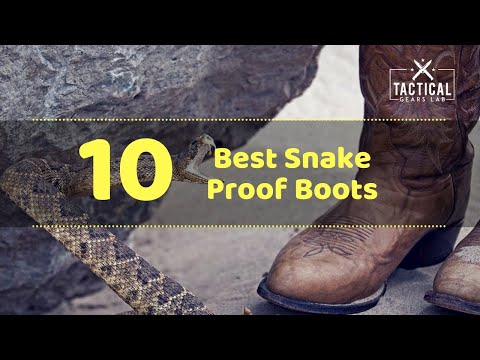 10 Best Snake Proof Boots - Tactical Gears Lab 2020