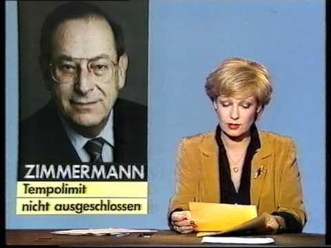 letzte Tagesschau Nachrichten 9.3.1985 Dagmar Berghoff ARD