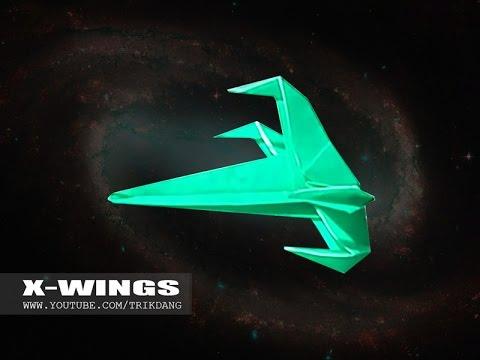 papierflieger selbst basteln papierflugzeug falten beste origami flugzeug x wings youtube. Black Bedroom Furniture Sets. Home Design Ideas