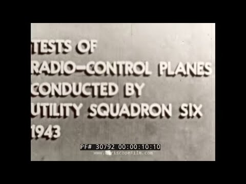 U.S. NAVY TDN-1 RADIO CONTROLLED WORLD WAR II DRONES 30792
